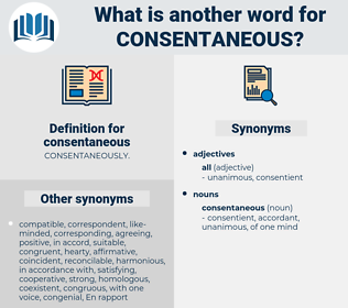 consentaneous, synonym consentaneous, another word for consentaneous, words like consentaneous, thesaurus consentaneous