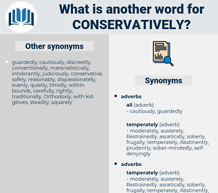 conservatively, synonym conservatively, another word for conservatively, words like conservatively, thesaurus conservatively
