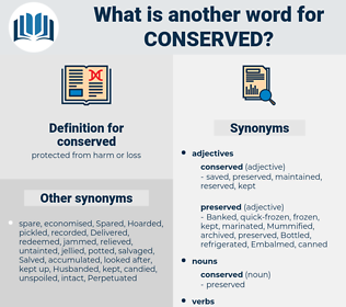 conserved, synonym conserved, another word for conserved, words like conserved, thesaurus conserved