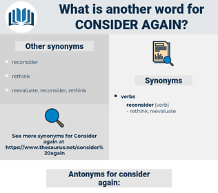 consider again, synonym consider again, another word for consider again, words like consider again, thesaurus consider again