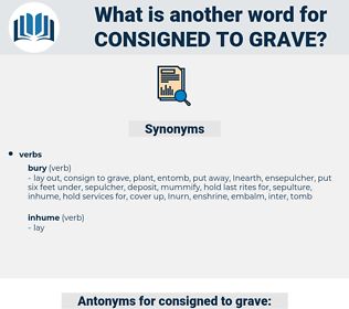 consigned to grave, synonym consigned to grave, another word for consigned to grave, words like consigned to grave, thesaurus consigned to grave