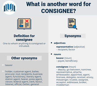 consignee, synonym consignee, another word for consignee, words like consignee, thesaurus consignee