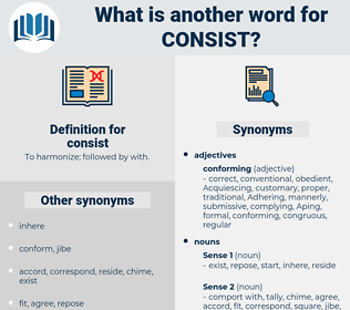 consist, synonym consist, another word for consist, words like consist, thesaurus consist
