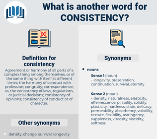consistency, synonym consistency, another word for consistency, words like consistency, thesaurus consistency