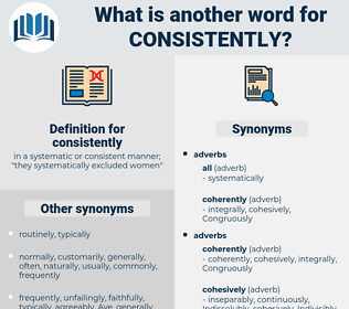 consistently, synonym consistently, another word for consistently, words like consistently, thesaurus consistently