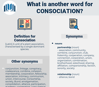 Consociation, synonym Consociation, another word for Consociation, words like Consociation, thesaurus Consociation