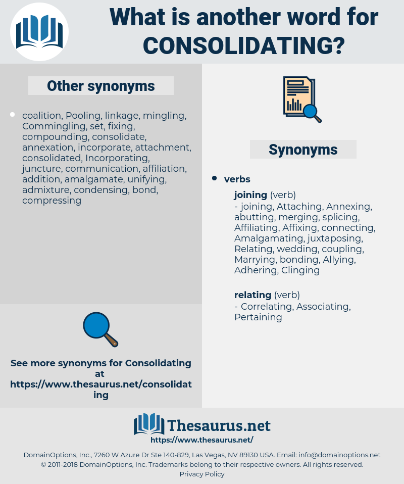 Consolidating, synonym Consolidating, another word for Consolidating, words like Consolidating, thesaurus Consolidating