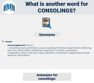 consolings, synonym consolings, another word for consolings, words like consolings, thesaurus consolings