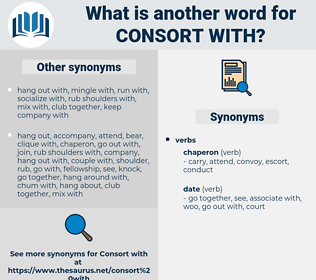consort with, synonym consort with, another word for consort with, words like consort with, thesaurus consort with