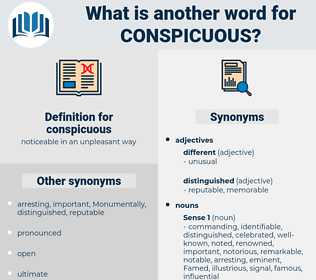 conspicuous, synonym conspicuous, another word for conspicuous, words like conspicuous, thesaurus conspicuous