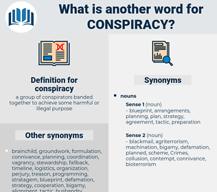 conspiracy, synonym conspiracy, another word for conspiracy, words like conspiracy, thesaurus conspiracy