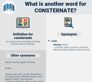 consternate, synonym consternate, another word for consternate, words like consternate, thesaurus consternate