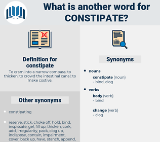 constipate, synonym constipate, another word for constipate, words like constipate, thesaurus constipate