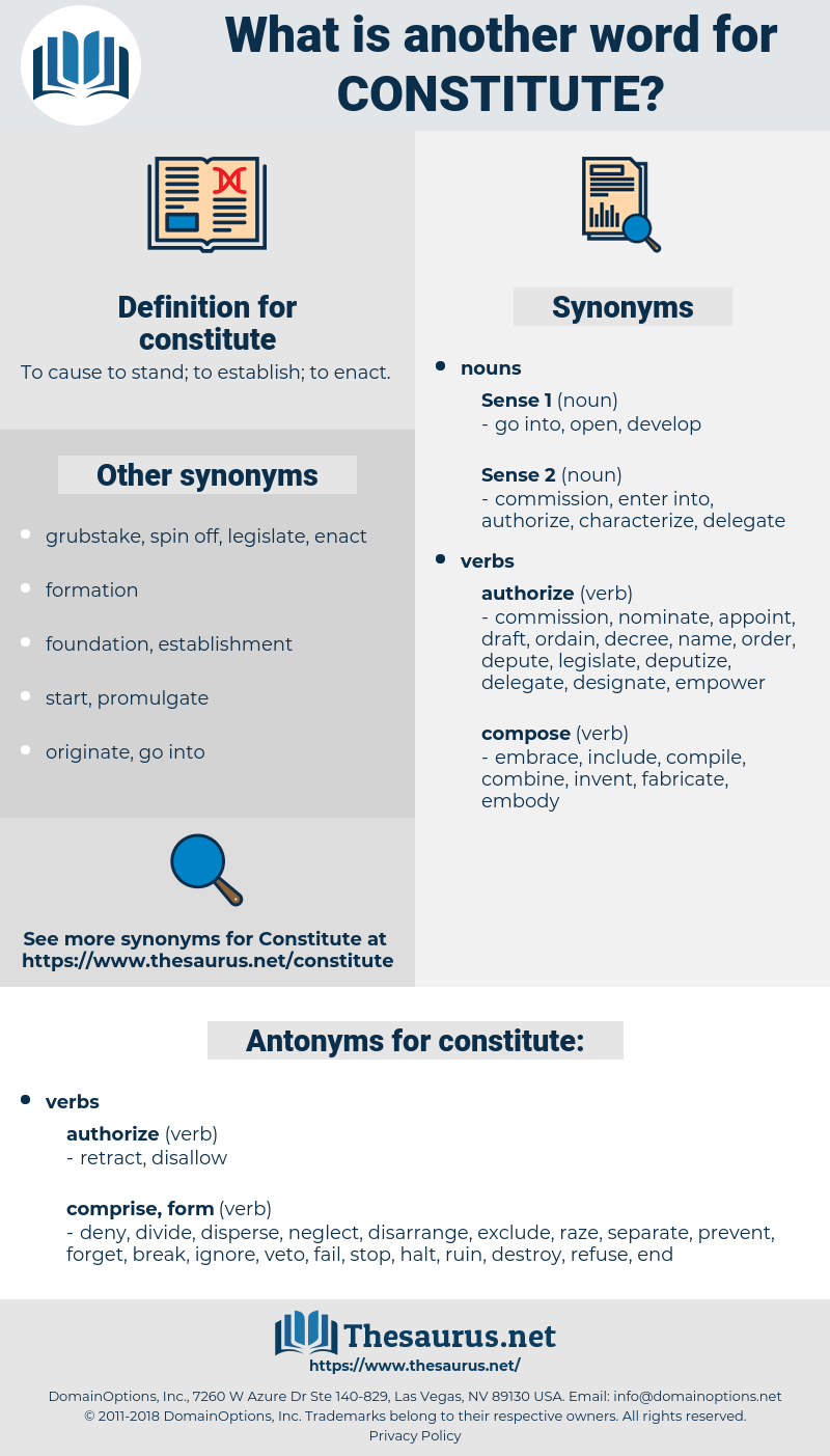 constitute, synonym constitute, another word for constitute, words like constitute, thesaurus constitute