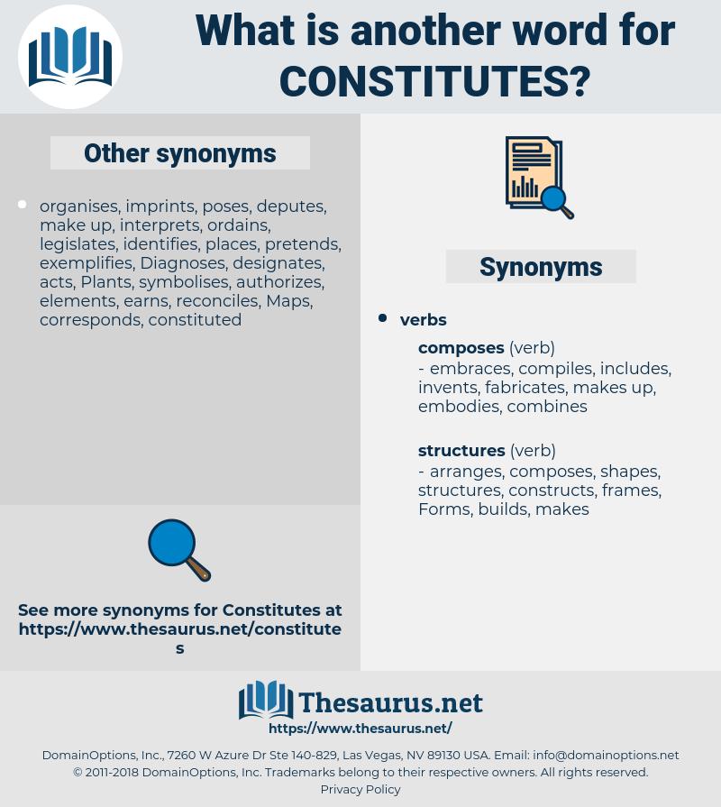constitutes, synonym constitutes, another word for constitutes, words like constitutes, thesaurus constitutes