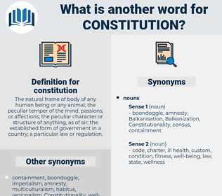 constitution, synonym constitution, another word for constitution, words like constitution, thesaurus constitution