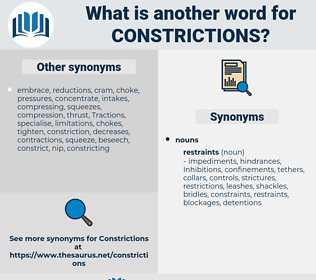 Constrictions, synonym Constrictions, another word for Constrictions, words like Constrictions, thesaurus Constrictions