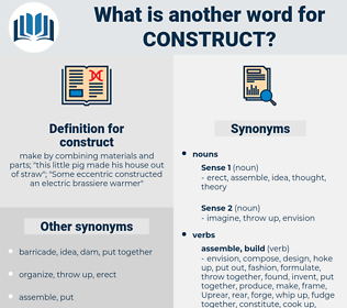 construct, synonym construct, another word for construct, words like construct, thesaurus construct