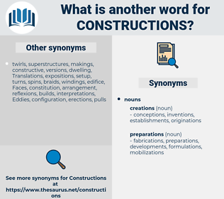 constructions, synonym constructions, another word for constructions, words like constructions, thesaurus constructions