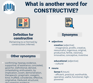 constructive, synonym constructive, another word for constructive, words like constructive, thesaurus constructive