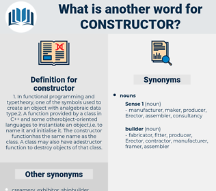 constructor, synonym constructor, another word for constructor, words like constructor, thesaurus constructor