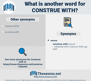 construe with, synonym construe with, another word for construe with, words like construe with, thesaurus construe with