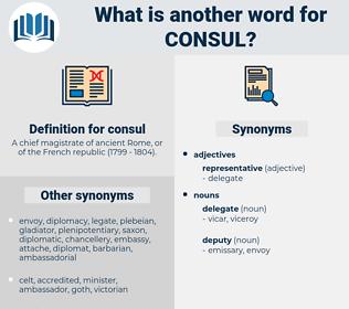 consul, synonym consul, another word for consul, words like consul, thesaurus consul