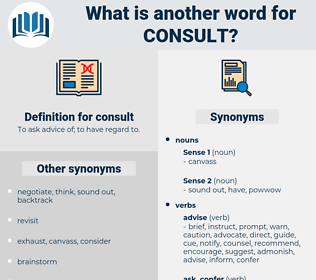 consult, synonym consult, another word for consult, words like consult, thesaurus consult