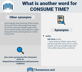 consume time, synonym consume time, another word for consume time, words like consume time, thesaurus consume time
