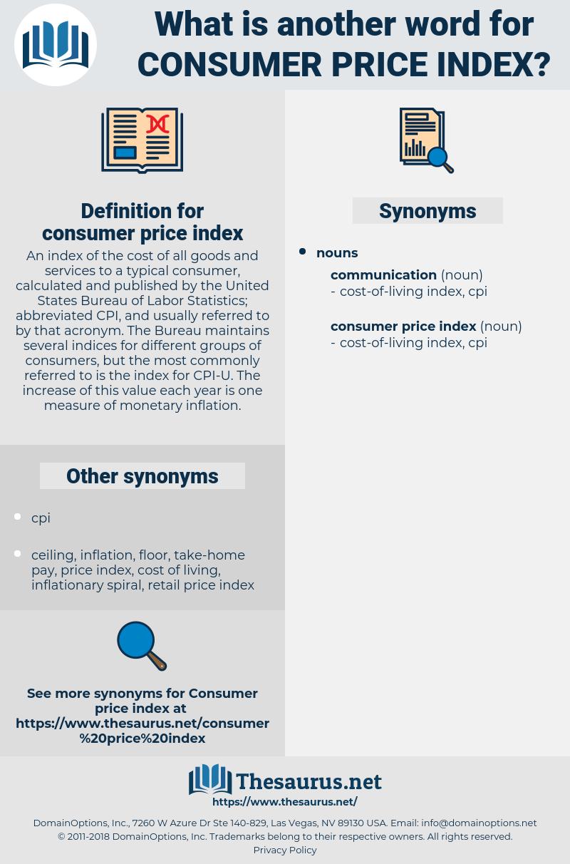 consumer price index, synonym consumer price index, another word for consumer price index, words like consumer price index, thesaurus consumer price index