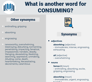 consuming, synonym consuming, another word for consuming, words like consuming, thesaurus consuming