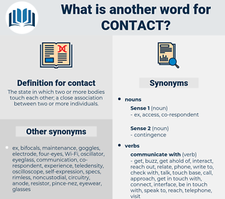 contact, synonym contact, another word for contact, words like contact, thesaurus contact