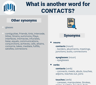 contacts, synonym contacts, another word for contacts, words like contacts, thesaurus contacts