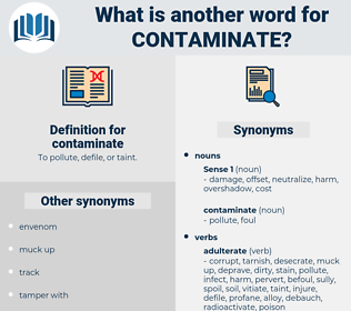 contaminate, synonym contaminate, another word for contaminate, words like contaminate, thesaurus contaminate