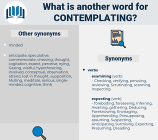 Contemplating, synonym Contemplating, another word for Contemplating, words like Contemplating, thesaurus Contemplating