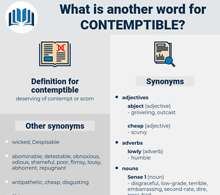contemptible, synonym contemptible, another word for contemptible, words like contemptible, thesaurus contemptible
