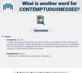 contemptuousnesses, synonym contemptuousnesses, another word for contemptuousnesses, words like contemptuousnesses, thesaurus contemptuousnesses