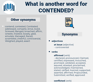Contended, synonym Contended, another word for Contended, words like Contended, thesaurus Contended