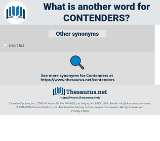 contenders, synonym contenders, another word for contenders, words like contenders, thesaurus contenders