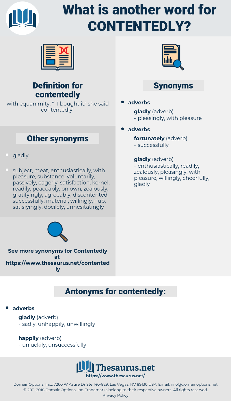 contentedly, synonym contentedly, another word for contentedly, words like contentedly, thesaurus contentedly