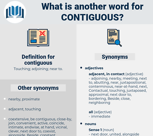 contiguous, synonym contiguous, another word for contiguous, words like contiguous, thesaurus contiguous
