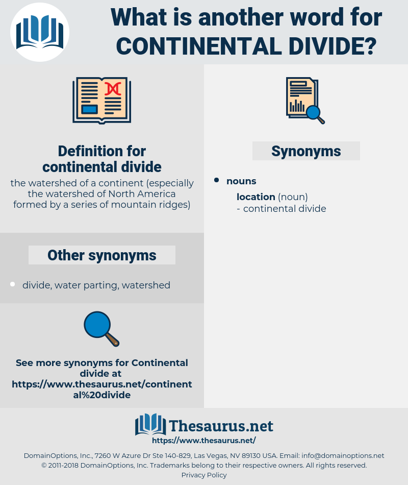 continental divide, synonym continental divide, another word for continental divide, words like continental divide, thesaurus continental divide