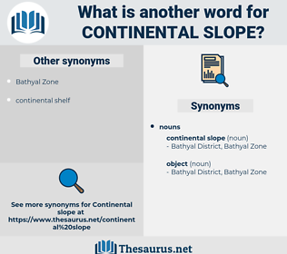 continental slope, synonym continental slope, another word for continental slope, words like continental slope, thesaurus continental slope