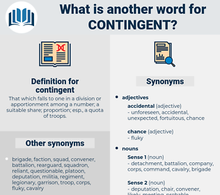 contingent, synonym contingent, another word for contingent, words like contingent, thesaurus contingent