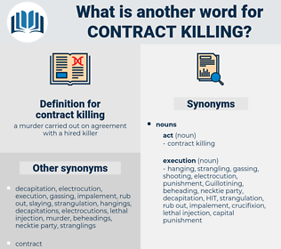 contract killing, synonym contract killing, another word for contract killing, words like contract killing, thesaurus contract killing