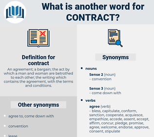 contract, synonym contract, another word for contract, words like contract, thesaurus contract