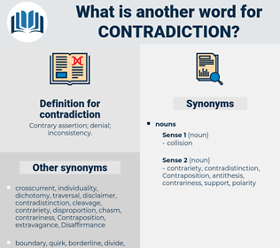 contradiction, synonym contradiction, another word for contradiction, words like contradiction, thesaurus contradiction