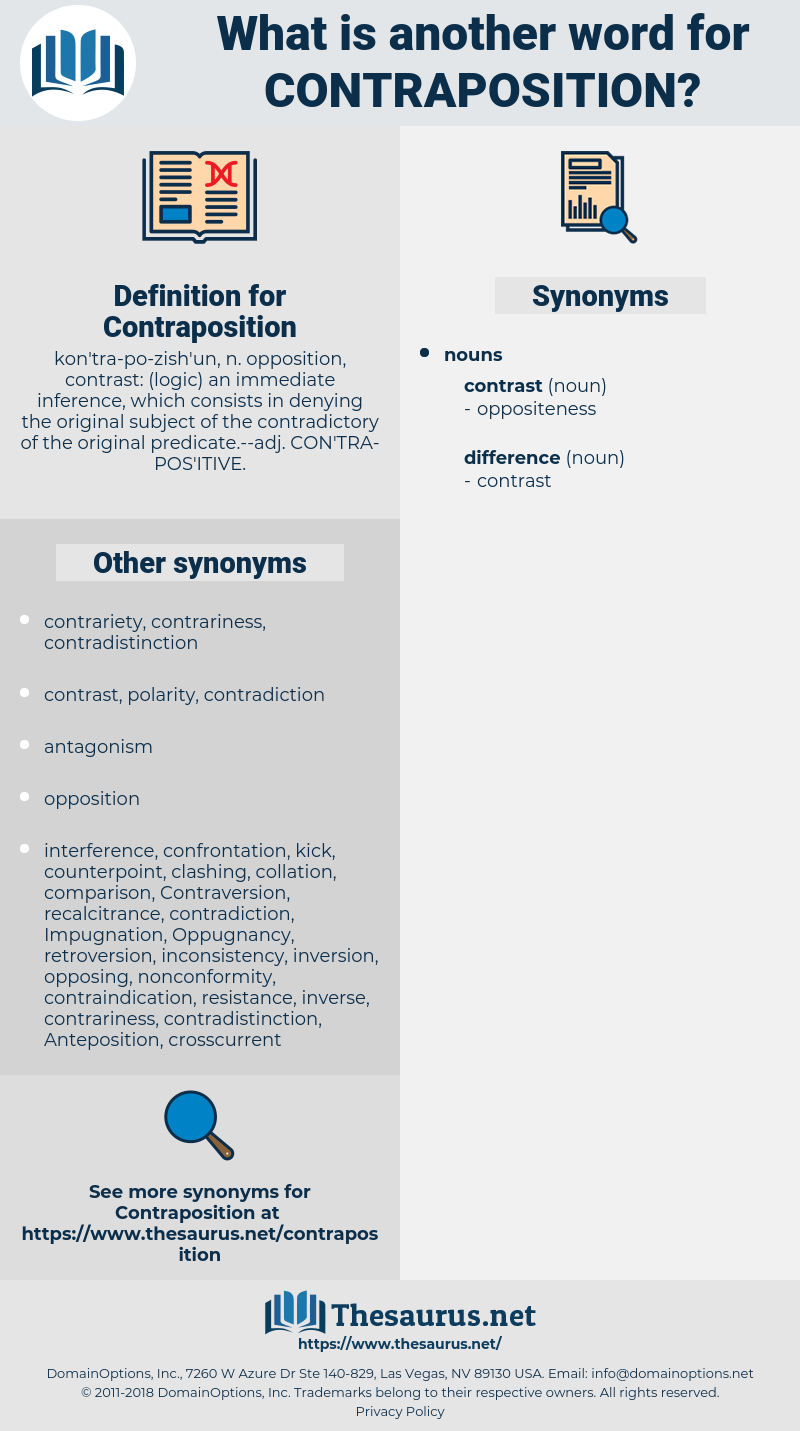 Contraposition, synonym Contraposition, another word for Contraposition, words like Contraposition, thesaurus Contraposition
