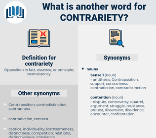 contrariety, synonym contrariety, another word for contrariety, words like contrariety, thesaurus contrariety