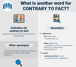 contrary to fact, synonym contrary to fact, another word for contrary to fact, words like contrary to fact, thesaurus contrary to fact
